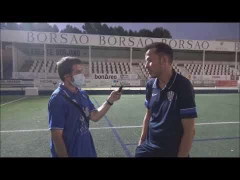"""DANI ASO (Entrenador Huesca B) SD Borja 0-1 SD Huesca B / Trofeo Manuel Meler / """"Somos ambiciosos y no renunciamos a nada"""""""