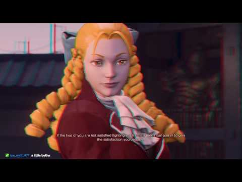 Street Fighter 5 in Anaglyph 3D! by WheatstoneHolmes