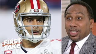 Stephen A. only has two nice things to say about Jimmy Garoppolo after Super Bowl LIV | First Take