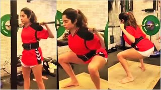 Jhanvi Kapoor various gym workout sessions will motivate y..