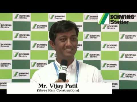 Excon _ Schwing Stetter _ Feedback from Mr.Vijay Patil, Shree Ram Construction