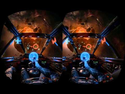 Star Citizen Oculus Rift Thrustmaster joystick drone sim