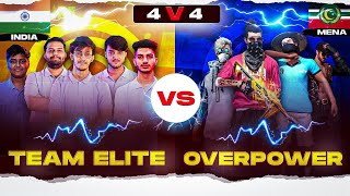 | TEAM ELITE VS OVERPOWER | Clash between best teams⚔ of both server | 4 vs 4 custom gameplay  #1