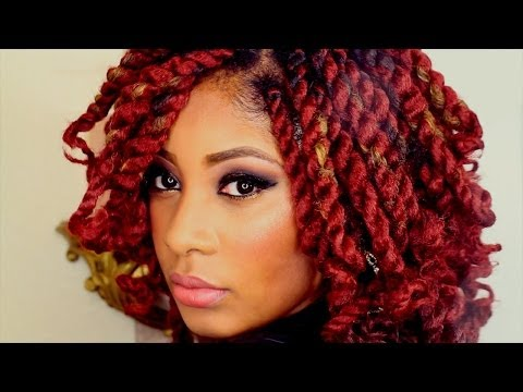 New Years Eve Glittery Smokey Eye Make-Up & DIY Short Marley Twist Hair Tutorial - Smashpipe Style