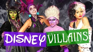 We Become DISNEY VILLAINS!! Halloween Makeup Transformation (Beauty Break)