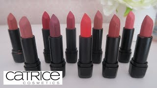 CATRICE DEMI MATTE LIPSTICK SWATCHES AND WEAR TEST