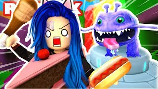 CRAZY ALIEN WANTS TO EAT US!! ESCAPE AREA 51 IN ROBLOX!