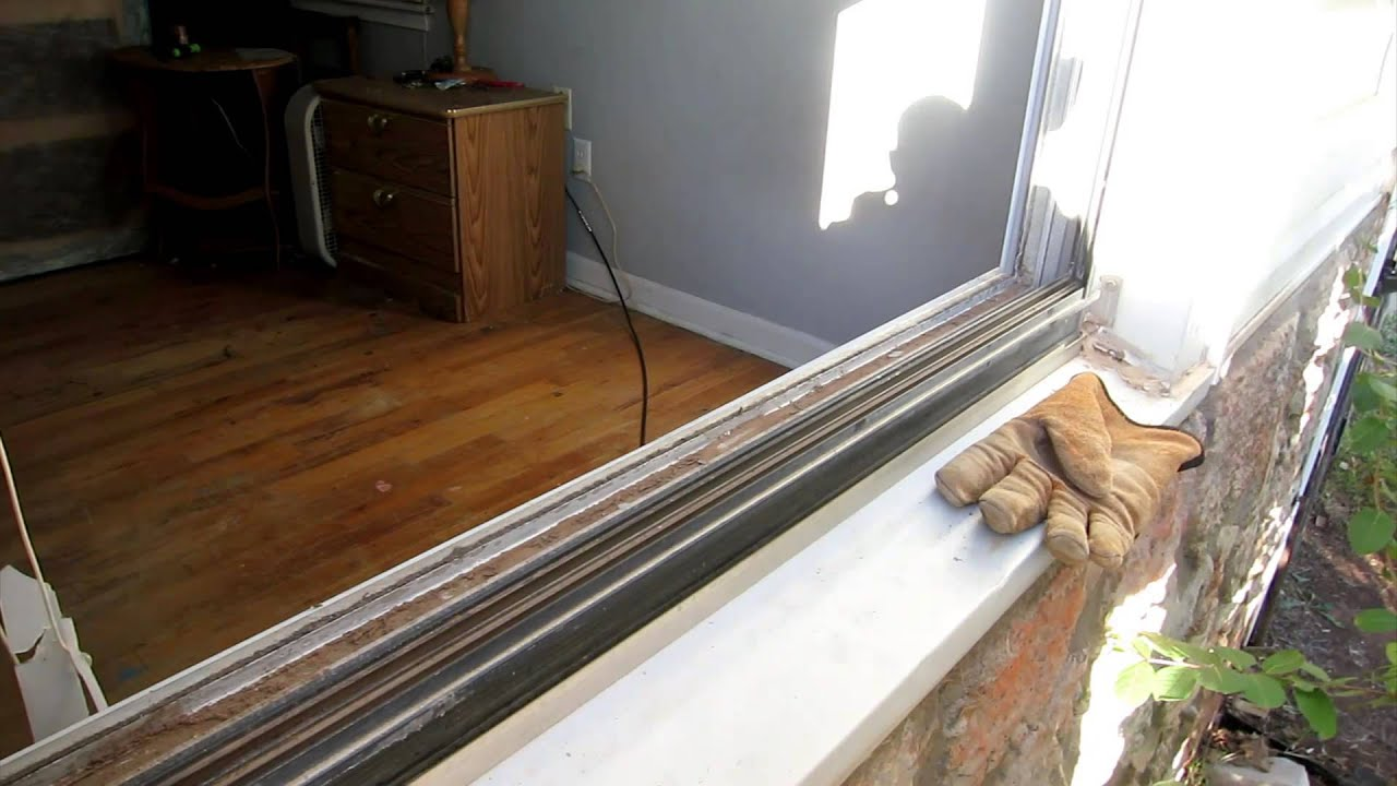 Replace Aluminum Window Glass Pane And Remove Vinyl Strip