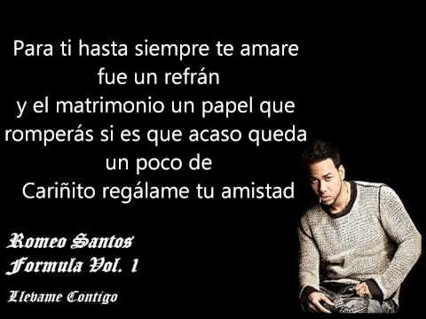 Llevame Contigo - Romeo Santos ♦♦ Letra ♦♦