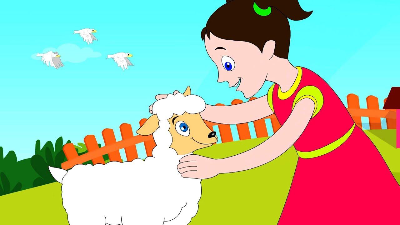 Mary had a Little Lamb- Nursery Rhyme with Lyrics - YouTube