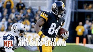 Antonio Brown Highlights from Career-High 284-Yard Game! | Raiders vs. Steelers | NFL