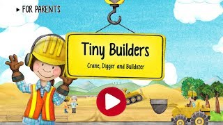 Tiny Builders | Crane, Digger, Bulldozer for Kids #1 (Android Gameplay) | Cute Little Games
