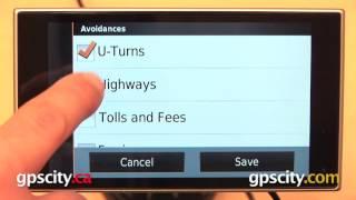 Garmin nuvi 3597LMTHD: Navigation Settings with GPS City