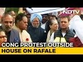 Sonia Gandhi, Rahul At Rafale Protest Outside Parliament, Paper Jets Seen