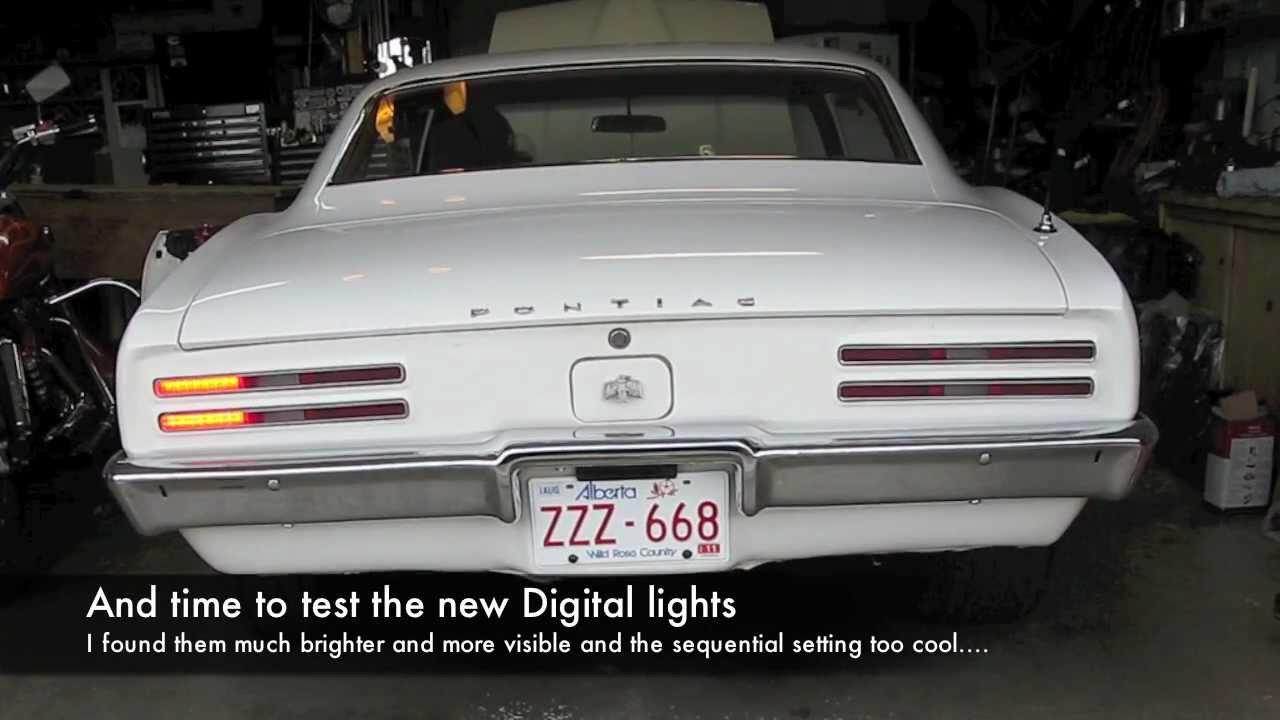 1968 Pontiac Firebird Digital Taillight Installation - YouTube