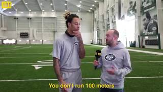 Meet NFL wide receiver Robby Anderson. The man faster than a car