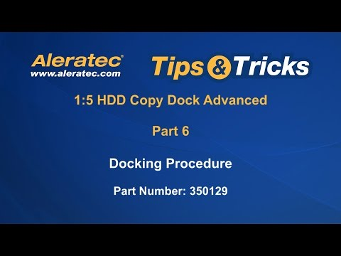 How To Dock HDDs - Aleratec 1:5 HDD Copy Dock Advanced 350129 Video Tutorial Part 6