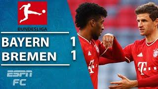 Bayern Munich avoid SHOCK as Kingsley Coman saves the day vs. Bremen   ESPN FC Bundesliga Highlights