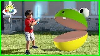 Pac-Man In Real Life vs Ryan!!!!