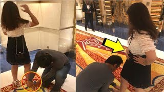 Viral Video: MS Dhoni Helps Wife Sakshi Dhoni To Tie Her S..