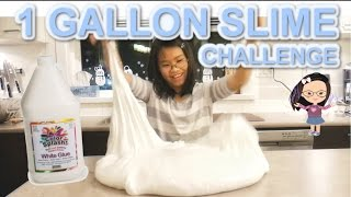 1-GALLON GLUE GIANT SLIME CHALLENGE | Huge Fluffy Slime