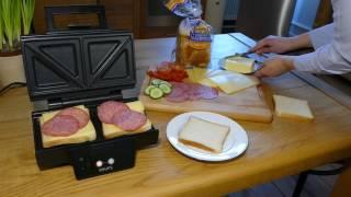 Sandwichmaker - Zubereitung von Sandwiches im Krups FDK 451 Sandwichtoaster
