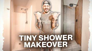 Basement Shower Makeover On Concrete Slab