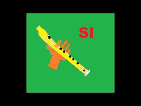Canción fácil para flauta dulce + PISTA + GUÍA (ANIMACIÓN) 3
