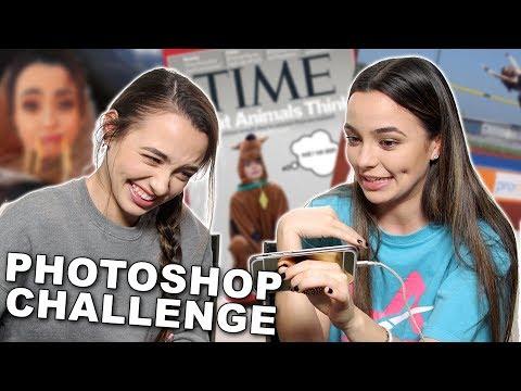 Photoshop Challenge - Merrell Twins