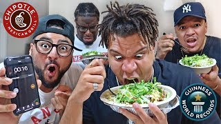 CHIPOTLE BOWL SPEED EATING COMPETITION!! (WORLD RECORD)