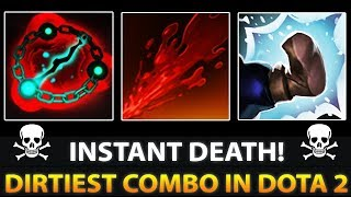 DIRTIEST WOMBO COMBO WITH GRIMSTROKE + BLOODSEEKER + TUSK = INSTANT DEATH – WTF Dota 2 ULTIMATES