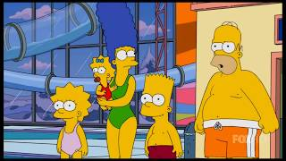 The Simpsons: The Simpsons in a indoor Waterpark