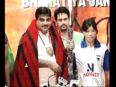 Shri Nitin Gadkari Honoured Marykom & Kavita Chahal