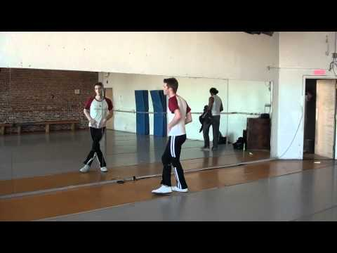 Janet Jackson Rhythm Nation Dance Tutorial Video Back View Full Speed