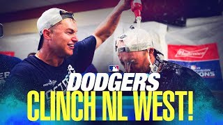 Dodgers clinch NL West title in 2019!