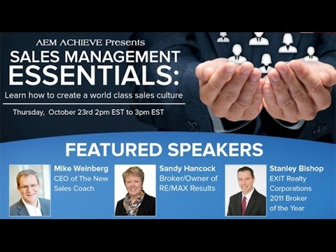 AEM Achieve #5: Sales Management Essentials: Learn How to Create a World Class Sales