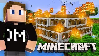WE SET A WOODLAND MANSION ON FIRE (Minecraft)
