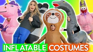 Trying INFLATABLE Kids Costumes!!!