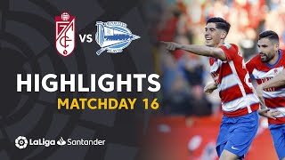 Highlights Granada CF vs Deportivo Alaves (3-0)