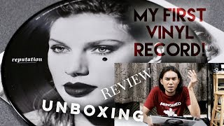 """Taylor Swift """"reputation"""" (Vinyl LP record) UNBOXING & Review"""