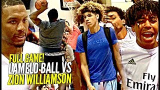 FULL GAME Zion Williamson vs LaMelo Ball; A Match-Up Made For The Internet!!