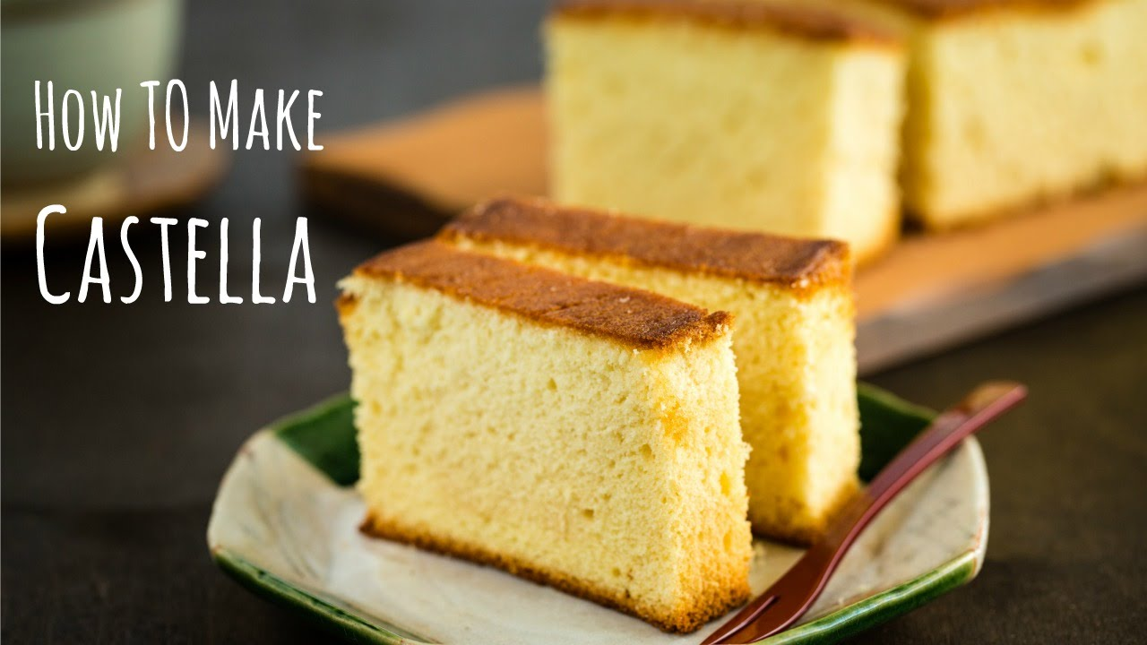 Japanese Sponge Cake Recipe Youtube: How To Make Castella (Recipe) カステラの作り方(レシピ)