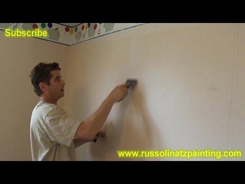 Diy Paint Over Vinyl Wallpaper Amp Border Part 1 Youtube