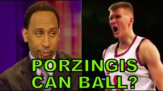 Stephen A Smith UPDATED Reaction- Kristaps Porzingis From Draft to NBA Rookie Star