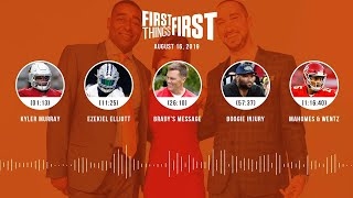 First Things First Audio Podcast(8.16.19) Cris Carter, Nick Wright, Jenna Wolfe   FIRST THINGS FIRST