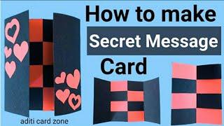 Secret message card   secret fold card   Anniversary gift card   Birthday gift card  