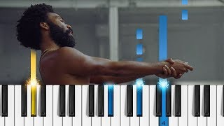 Childish Gambino - This is America - Piano Tutorial / Piano Cover
