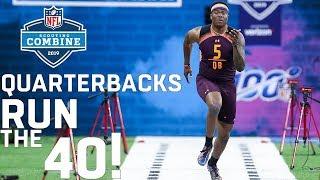 Quarterbacks Run the 40-Yard Dash   2019 NFL Scouting Combine Highlights