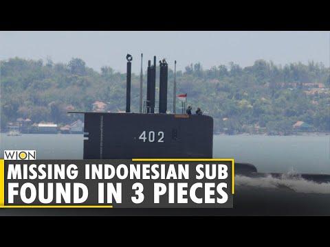 Missing Indonesian submarine found broken into 3 pieces