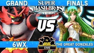 Smash Ultimate Tournament Grand Finals - 6WX (Incineroar) vs The Great Gonzales (Palutena) - CNB 175